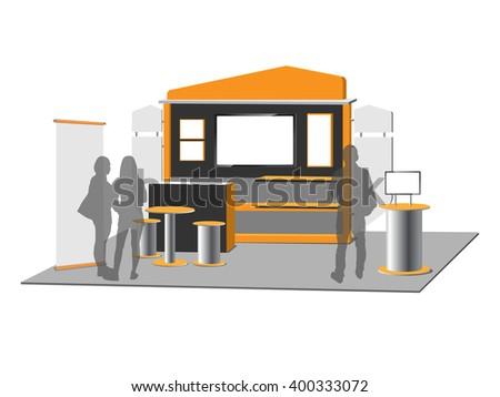 Blank trade exhibition stand, vector - stock vector