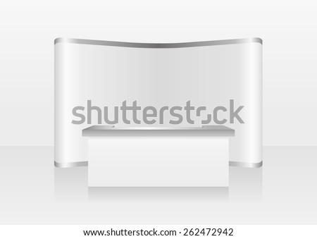 blank trade show booth - stock vector