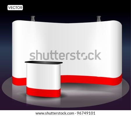 blank trade show booth - stock vector