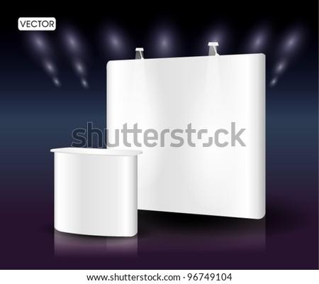 blank trade show booth exhibition - stock vector