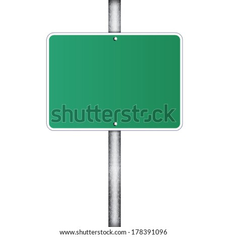 Blank traffic road sign on white  - stock vector