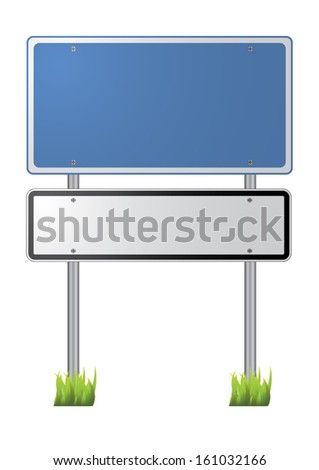 blank traffic sign vector images - stock vector