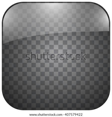 blank transparent app button - stock vector