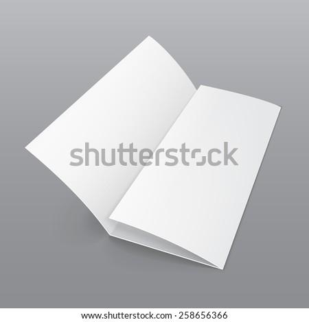 Single Open Gate Fold Brochure 3 Illustration 725727139 – Blank Tri Fold Brochure Template