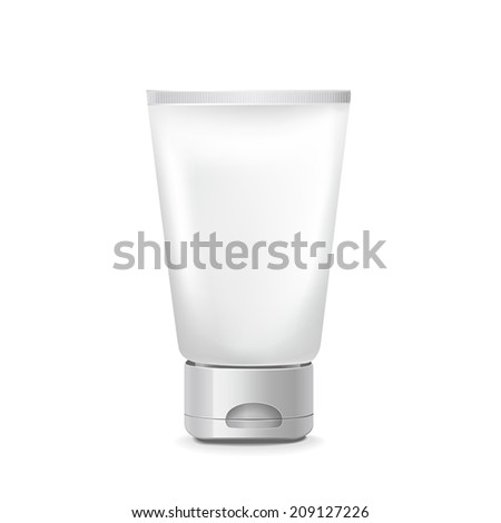 blank tube package isolated on  white background