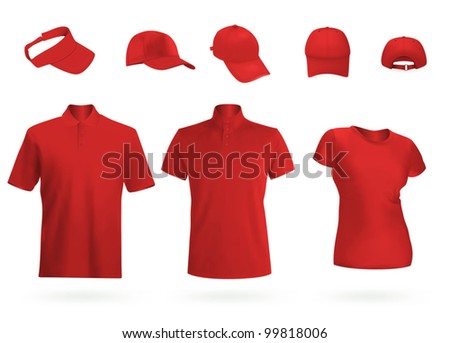 Blank uniform t-shirts and polo. - stock vector
