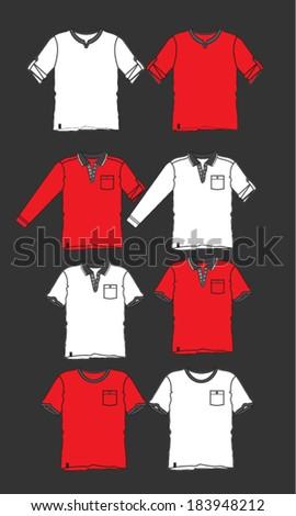 Blank uniform template, vector - stock vector