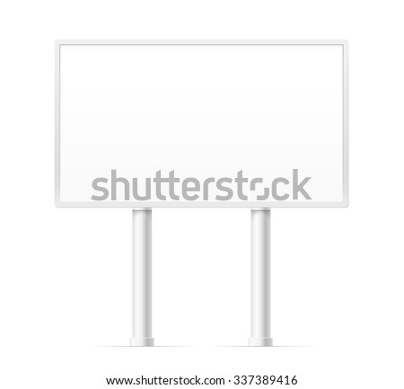 Blank urban advertising board template. Past your content on it - stock vector
