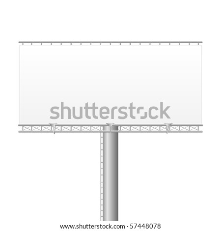 Blank Vector Billboard - stock vector