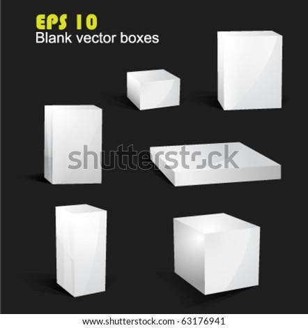 Blank vector boxes EPS 10 - stock vector