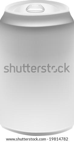 Blank vector can - stock vector