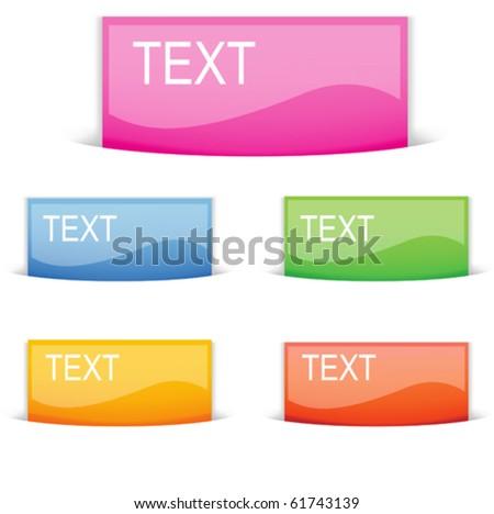 Blank vector web button pocket - stock vector
