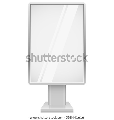 Blank vertical advertising street display vector template isolated on white background. - stock vector