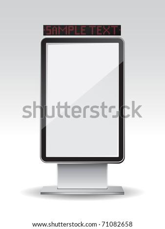 Blank vertical billboard - stock vector