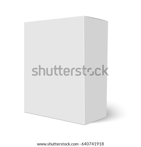 Blank vertical paper box template standing stock vector hd royalty blank vertical paper box template standing on white background vector illustration maxwellsz