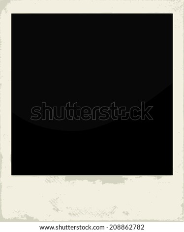 Blank vintage photo frame - stock vector