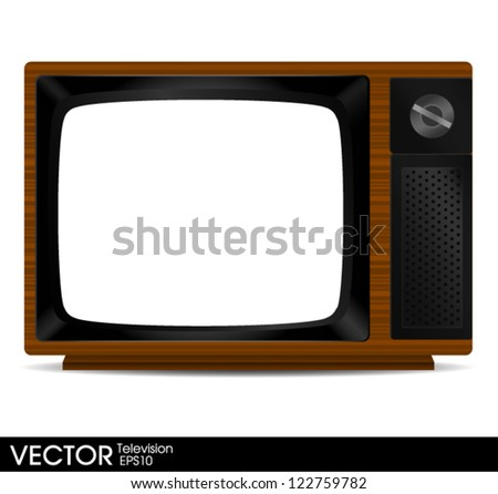 Blank Vintage Television - stock vector
