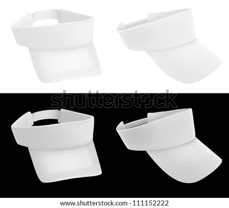 Blank visor template - stock vector