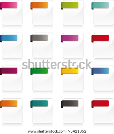 Blank wabe page icons. Vector - stock vector