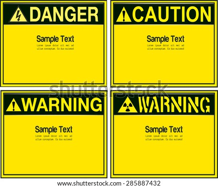 Blank Warning a variety of styles vector background - stock vector
