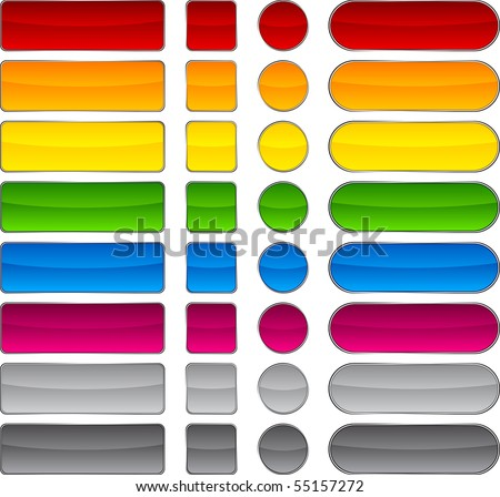 Blank web beautiful buttons. Vector. - stock vector