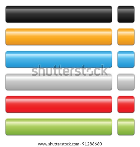 blank web 2.0 button on white background - stock vector