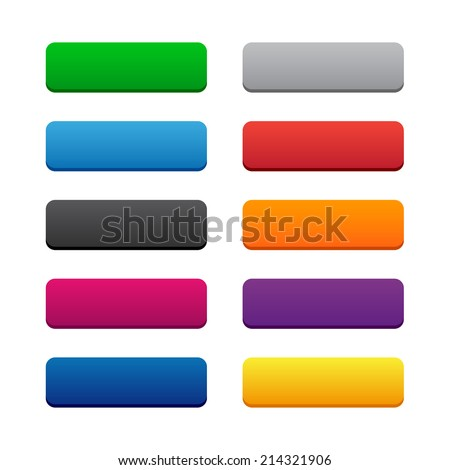 Blank web buttons - stock vector