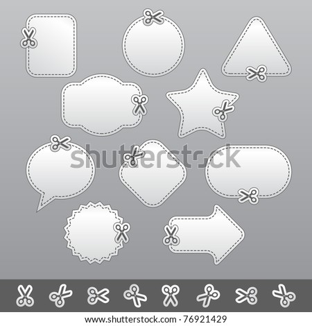 Blank white advertising coupon - stock vector