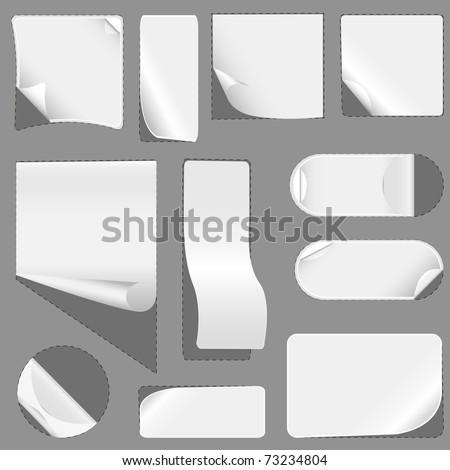 Blank white advertising coupon cut. vector illustration - stock vector