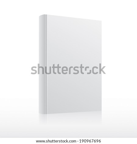 Blank white book cover template.