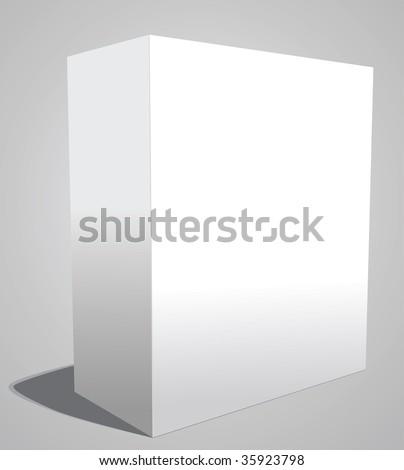 Blank white box - stock vector