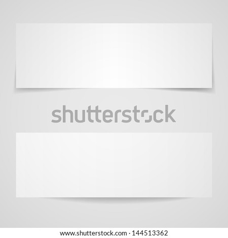 Blank white cards with shadows Eps 10 vector illustration - stock vector