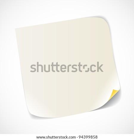 Blank white paper sheet - stock vector