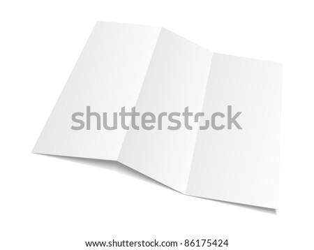 Blank white paper. Vector illustration. - stock vector