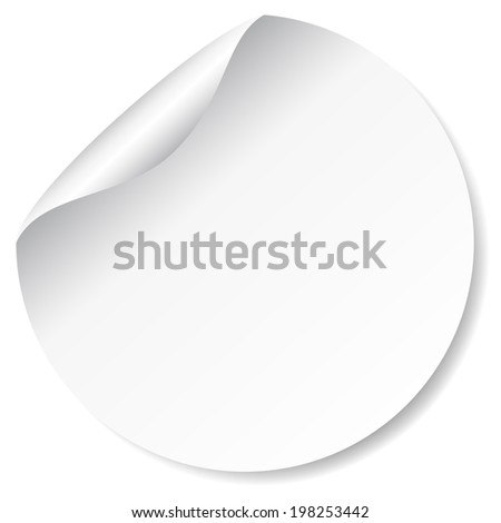 Blank white round promotional sticker