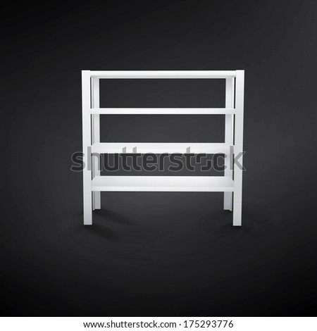 blank white Shelf  - stock vector