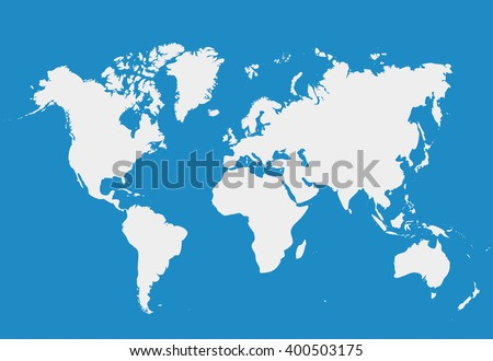 Blank white simillar world map isolated vector de stock400503175 blank white simillar world map isolated on blue background worldmap vector template for website gumiabroncs Images