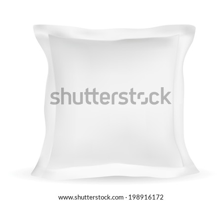 Blank white square pillow - Illustration EPS-10