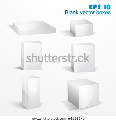 Blank white vector icon boxes