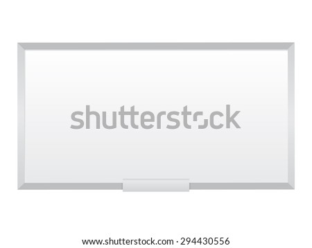 Blank Whiteboard on a white background - stock vector