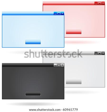 Blank windows - stock vector