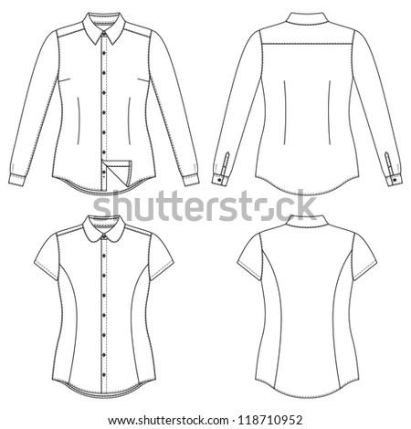 Blank Women's Shirt - stock vector