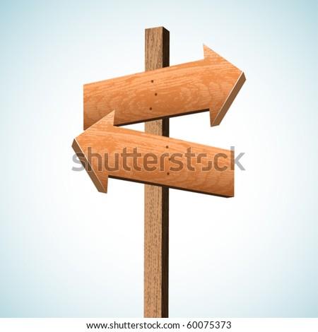 Blank wooden pointer. Vector. - stock vector