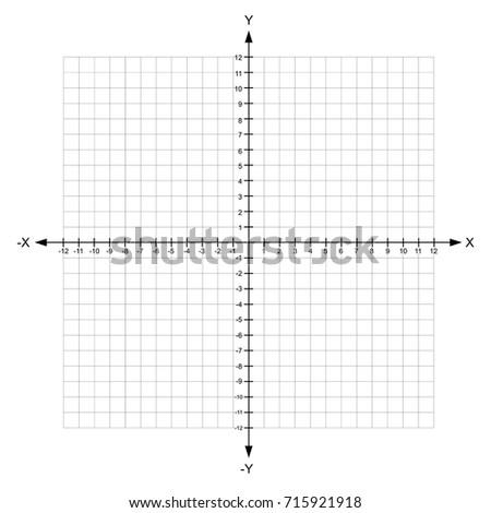 Blank X Y Axis Cartesian Coordinate Stock Vector 715921918 ...