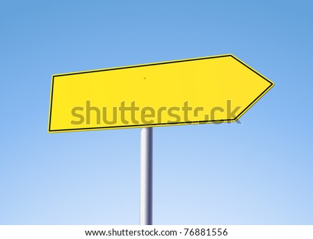 Blank yellow arrow sign - variations in portfolio - stock vector