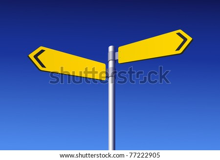 Blank yellow road sign - stock vector