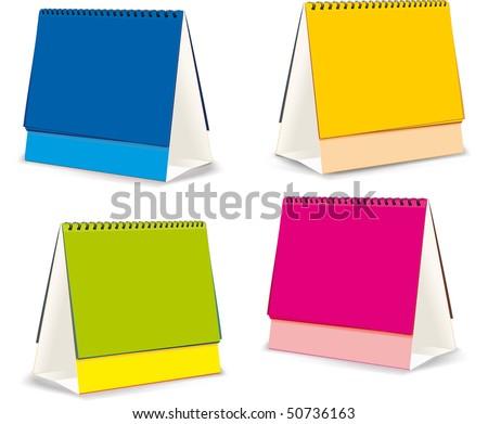 blanks for Desktop calendars - stock vector