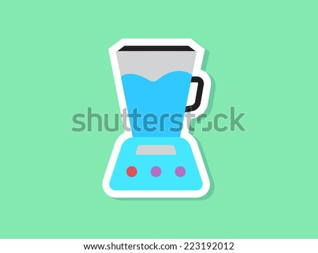 blender vector icon - stock vector