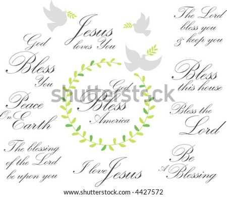 blessing - stock vector