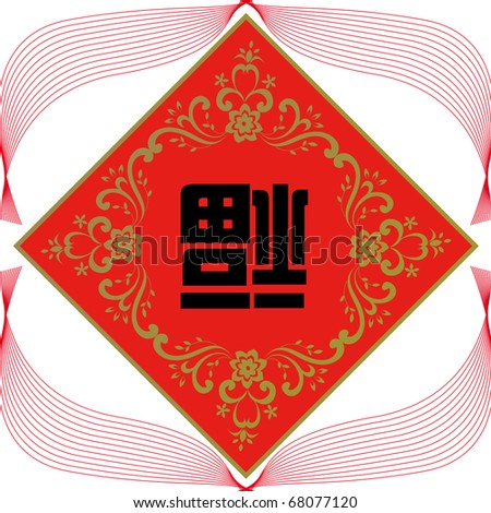 Blessing Spring festival couplets of chinese. - stock vector